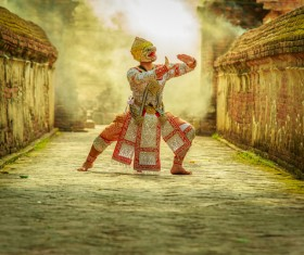Cambodian traditional dance performer HD picture