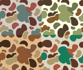 Camouflage pattern seamless vectors set 01