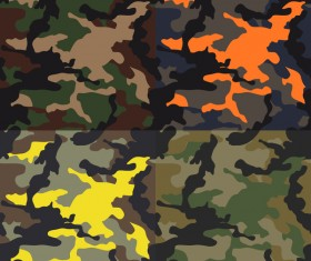 Camouflage pattern seamless vectors set 02
