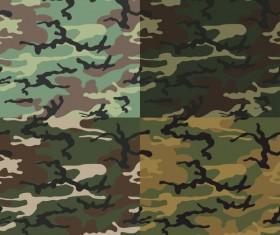 Camouflage pattern seamless vectors set 03