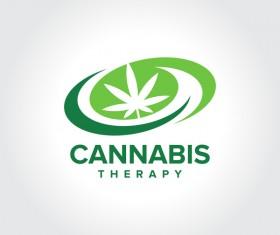 Cannabis Therapy logo design vector 01