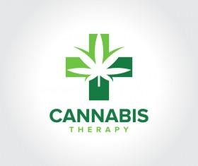 Cannabis Therapy logo design vector 02