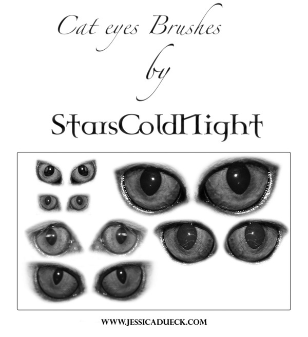 Cat Eyes photoshop brushes