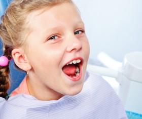 Children repair teeth Stock Photo
