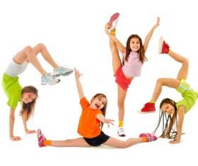 Children 's gymnastics HD picture