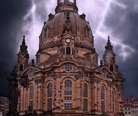 Church of Our Lady of Dresden Stock Photo