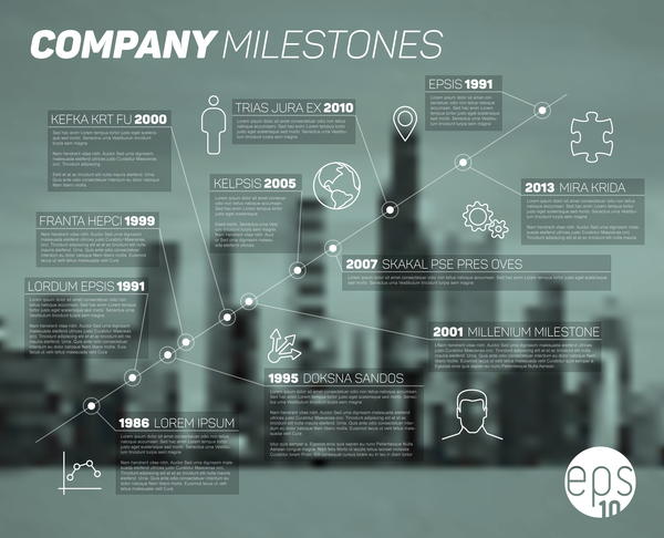 City blurs background and infographic vector 03