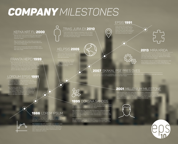 City blurs background and infographic vector 05