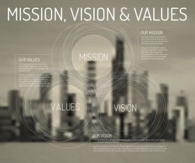 City blurs background and infographic vector 11