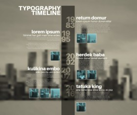 City blurs background and infographic vector 12