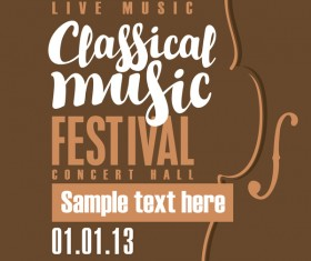 Classical music retro concert poster template 09