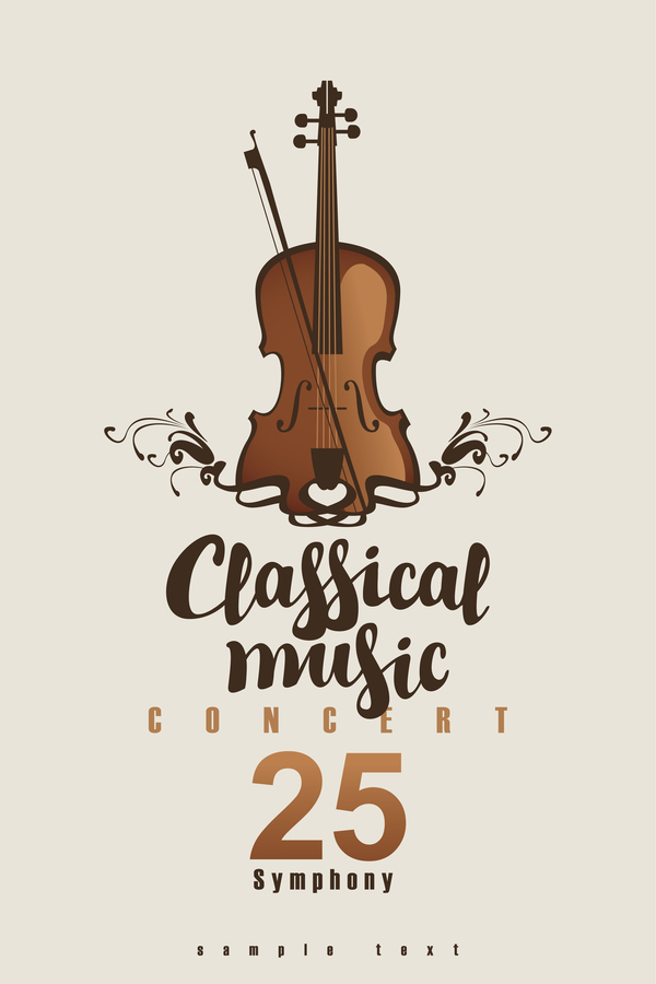Classical Music Retro Concert Poster Template 10