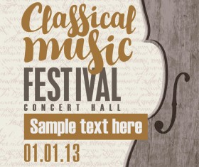 Classical music retro concert poster template 12