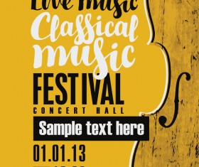 Classical music retro concert poster template 13