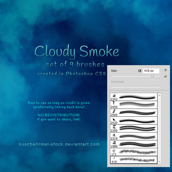 Cloudy Smoke photoshop brushes