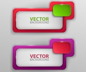 Colored frame with vector banners