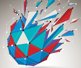 Colored geometric debris vector background 01