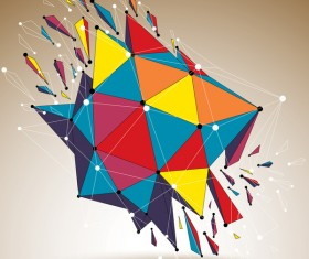 Colored geometric debris vector background 02