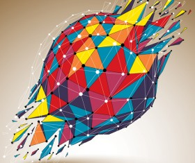 Colored geometric debris vector background 03