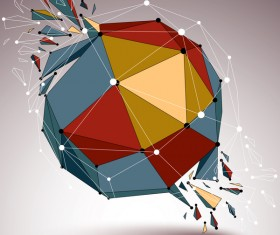 Colored geometric debris vector background 04
