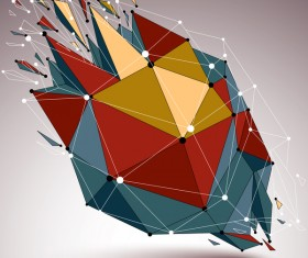Colored geometric debris vector background 05