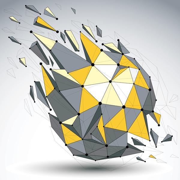 Colored geometric debris vector background 06