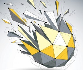 Colored geometric debris vector background 07