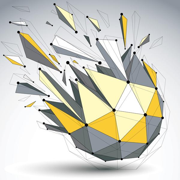 Colored geometric debris vector background 07