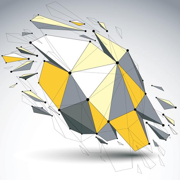 Colored geometric debris vector background 08