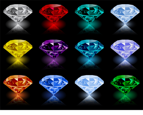 Colorful diamond vector illustration 01