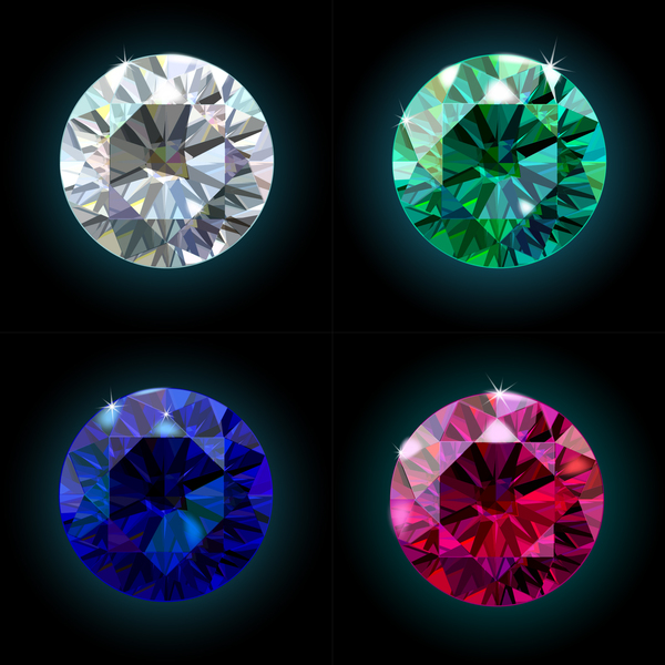 Colorful diamond vector illustration 02