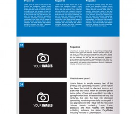 Company brochure cover blue styles vector 10