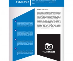 Company brochure cover blue styles vector 12