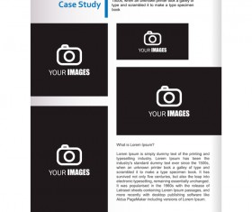 Company brochure cover blue styles vector 14