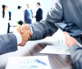 Cooperation and Business Agreements Stock Photo