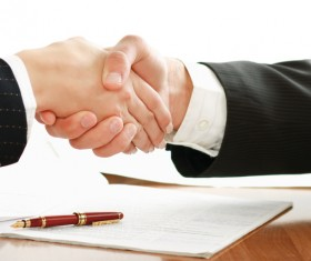 Cooperation and commercial contracts Stock Photo
