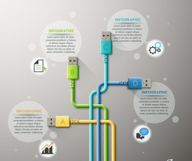 Creative connection infographic vector template 03