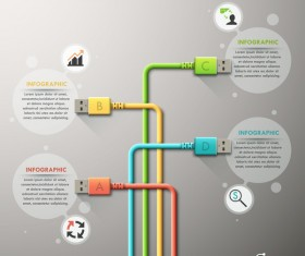 Creative connection infographic vector template 04