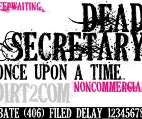 Dead secretary font