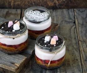 Delicate fruit desserts Stock Photo 08