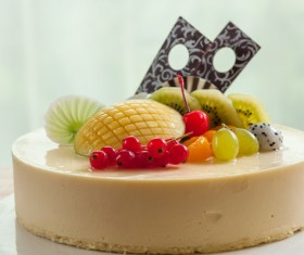 Delicious fruit cake Stock Photo