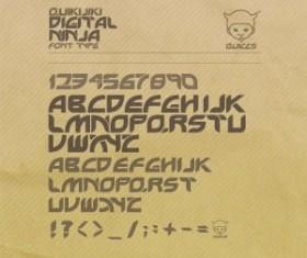Digital Ninja font