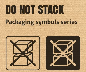 Do not stack packaging icons series vector
