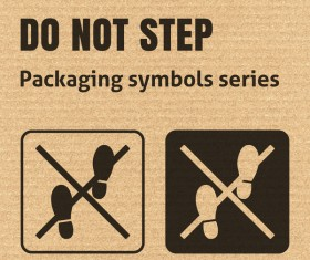 Do not step packaging icons series vector