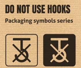 Do not use hooks packaging icons series vector