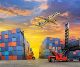 Dock loading trucks and trucks Stock Photo 03