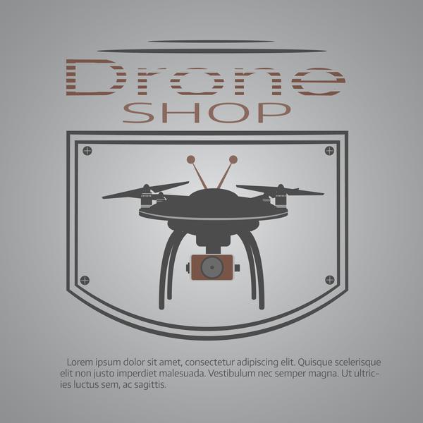 Drone poster design vectors 03