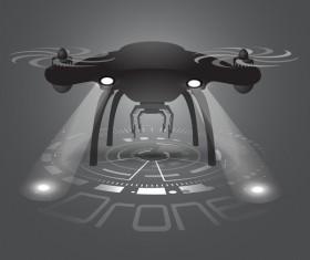Drone poster design vectors 11