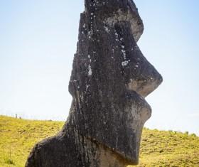 Easter Island Boulder Stock Photo