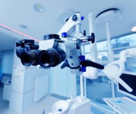Eye examination Medical equipment Stock Photo